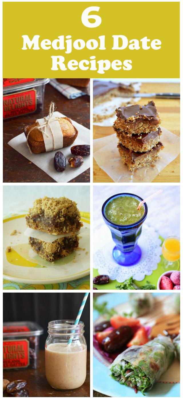6 Delicious Vegan Medjool Date Recipes, from smoothie through to tasty, #healthy desserts. #medjooldates #vegan