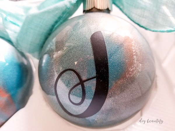marbled metallic ornament