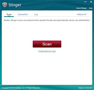برنامج, McAfee ,Stinger, لحذف, ملفات, التجسس, والاختراق, اخر, اصدار