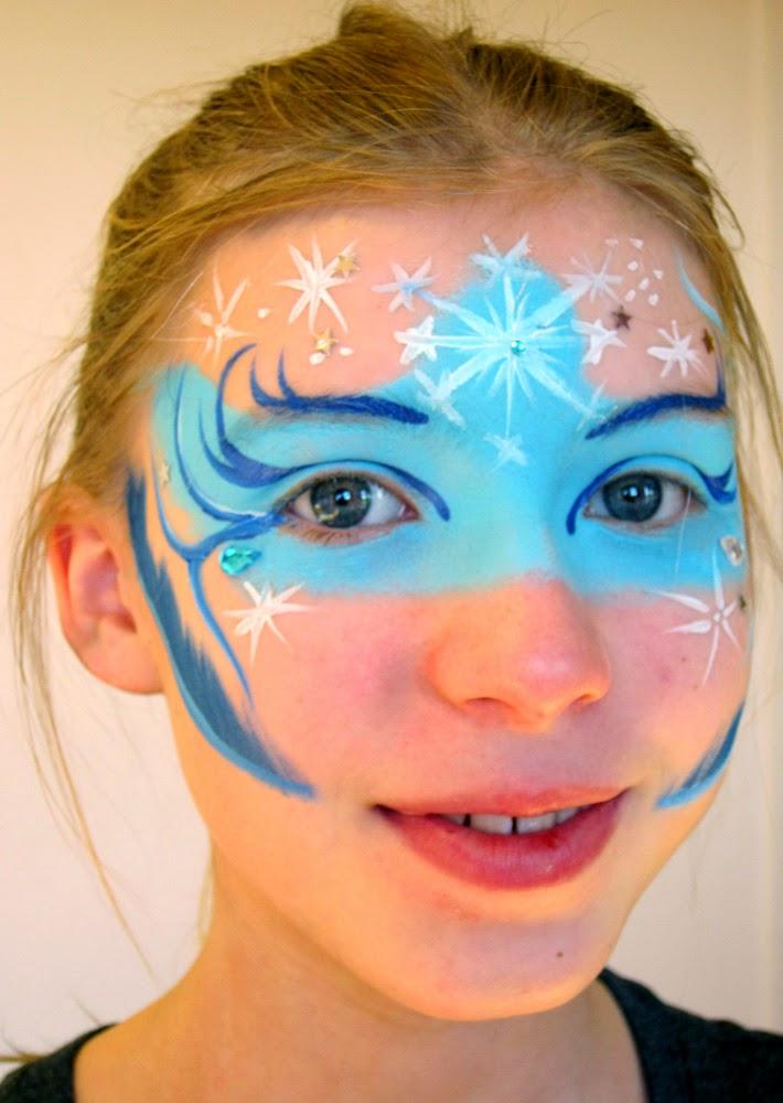 Sne prinsesse ansigtsmaling