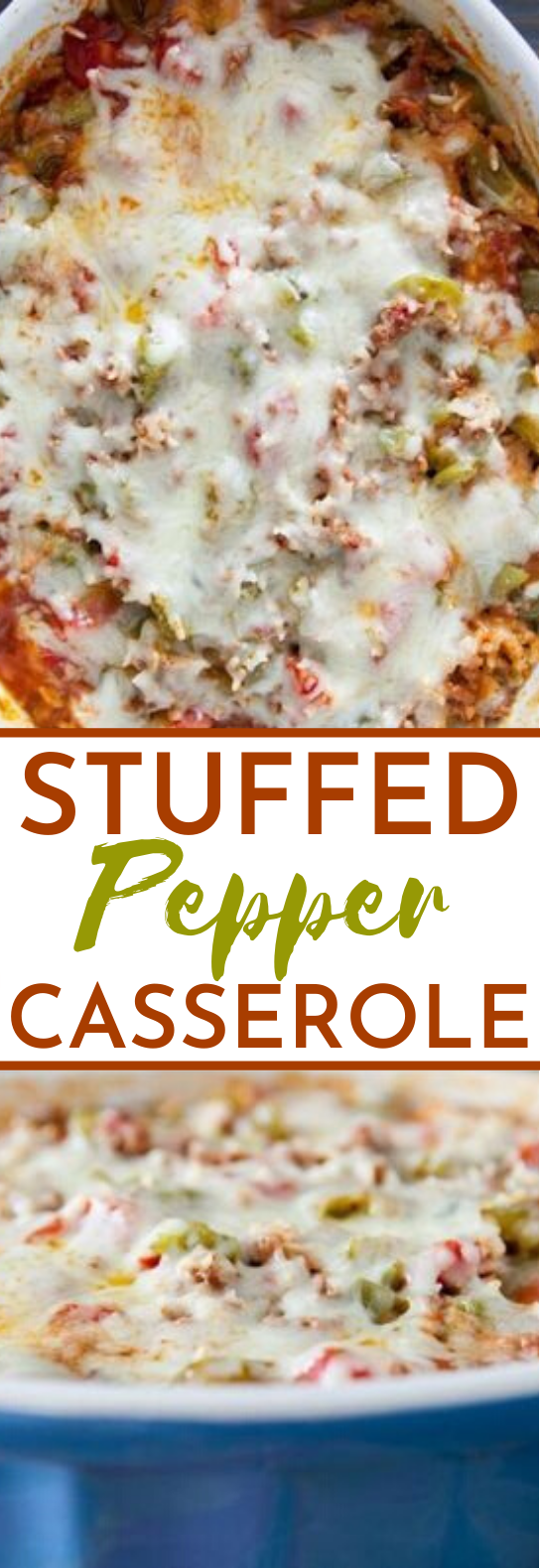 Stuffed Pepper Casserole #dinner #casserole #comfortfood #easy #recipes