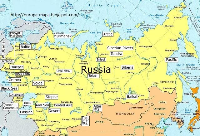 Ciudades De Rusia Mapa.Mapa De Rusia Fisico Ciudad