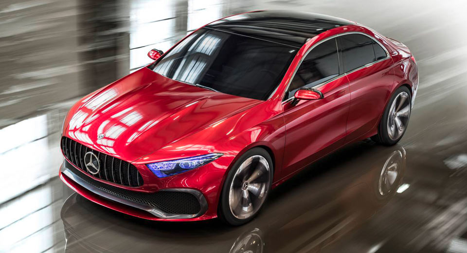 mercedes benz concept a sedan previews future compact cars