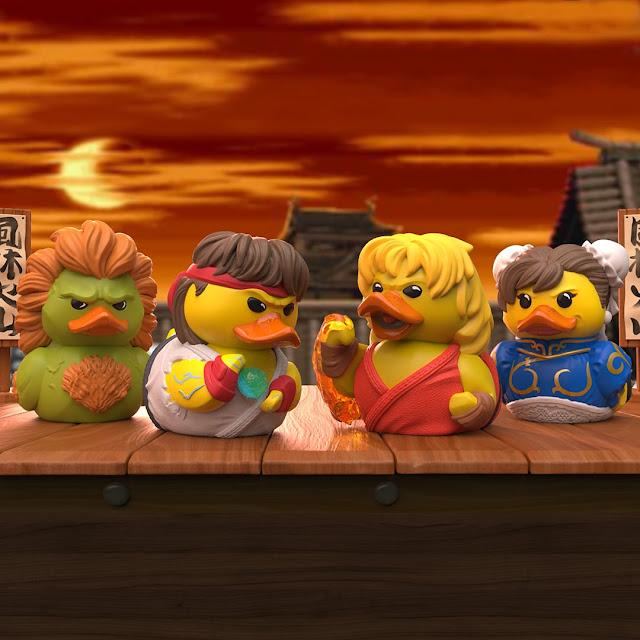 Tubbz cosplaying ducks Street Fighter Blanka Ryu Ken Chun Li Numskull Designs
