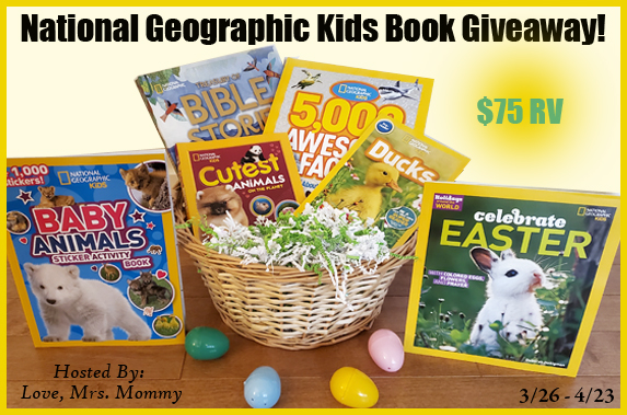 $75 National Geographic Kids Easter Book Giveaway