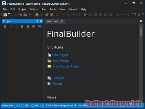 Download FinalBuilder 8.0.0.2550 Full Crack