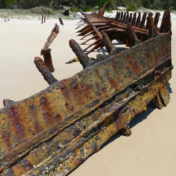 Bulwer Wrecks Schiff-Wrack Strand Gerippe Moreton Island