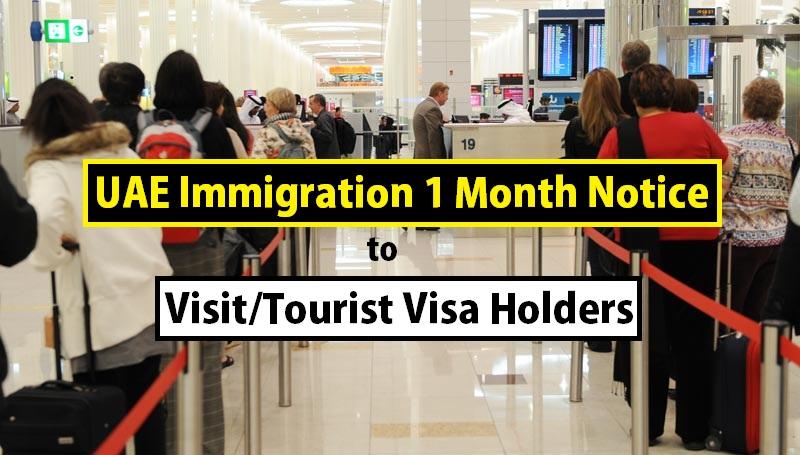 Breaking: Expired Visit/Tourist Visa Holders have 1 Month Deadline to Leave UAE