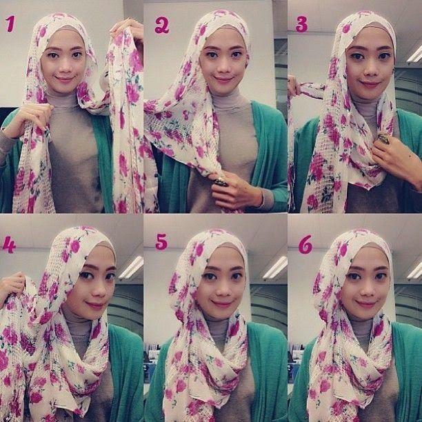 Cara Hijab Segi Empat Yang Sederhana dan Praktis 2