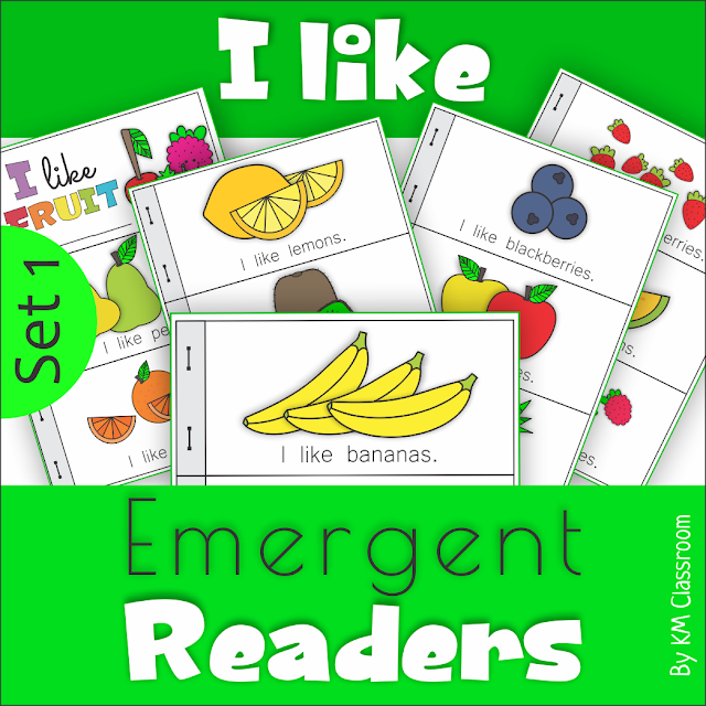 https://www.teacherspayteachers.com/Product/Emergent-Readers-I-Like-Fruit-3685055