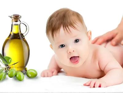 فوائد زيت الزيتون لتدليك الأطفال