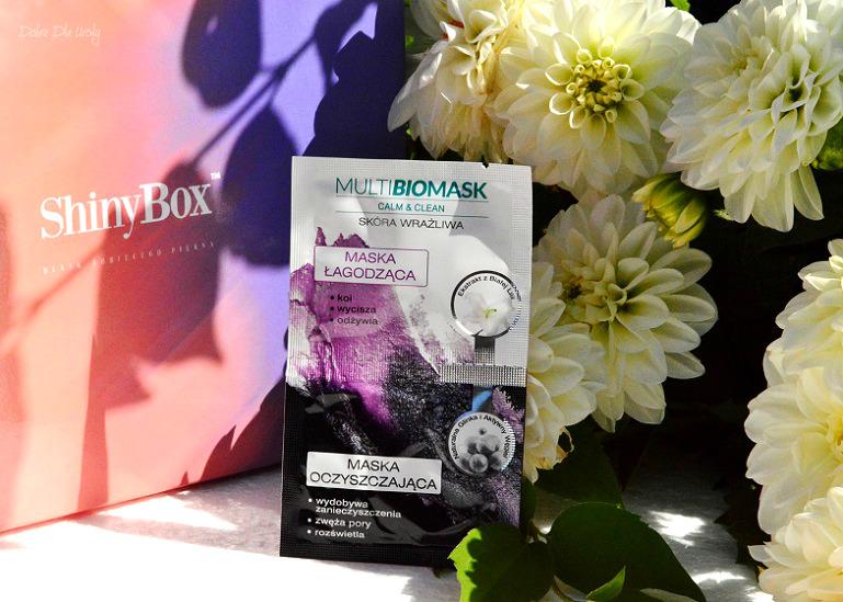 ShinyBox Hippieness - Biotaniqe MultiBioMask Maska Łagodząca + Maska Oczyszczająca