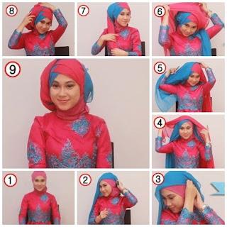 Contoh Menggunakan Jilbab Dengan Kebaya