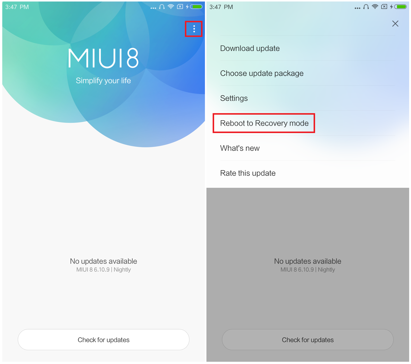 downgrade your Xiaomi Device from MIUI 9 to MIUI 8