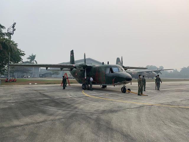 2 Pesawat Kembali Diterbangkan Untuk Operasi Teknologi Modifikasi Cuaca