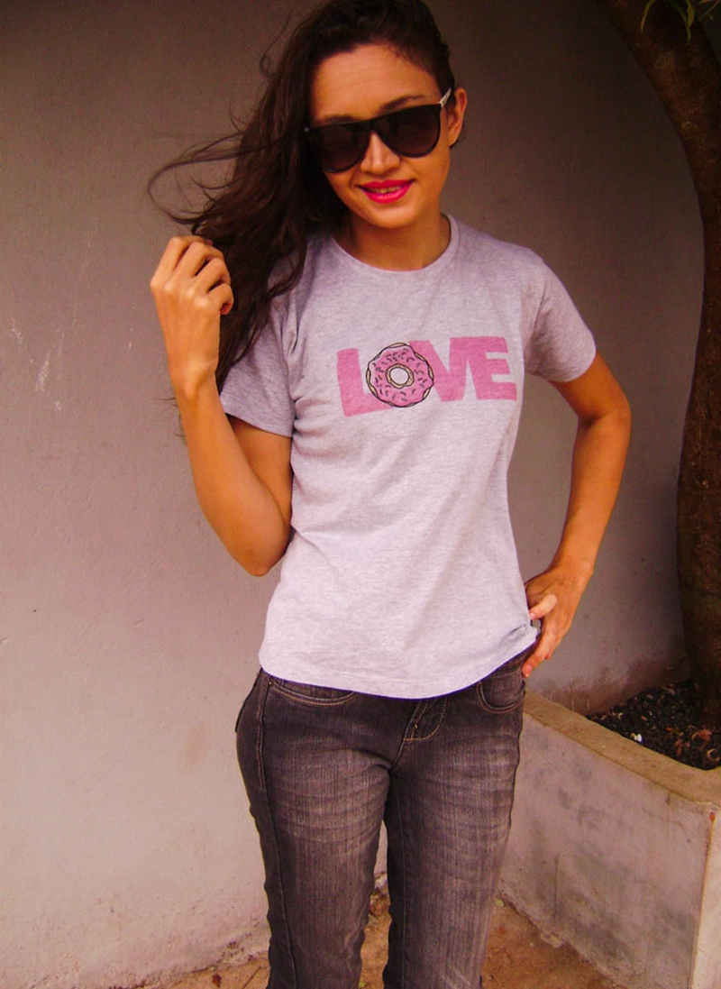 Look do dia: T-shirt LOVE cinza da Boutique Judith, Denise Mendonça Blog, Denise Mendonça, Look do dia,