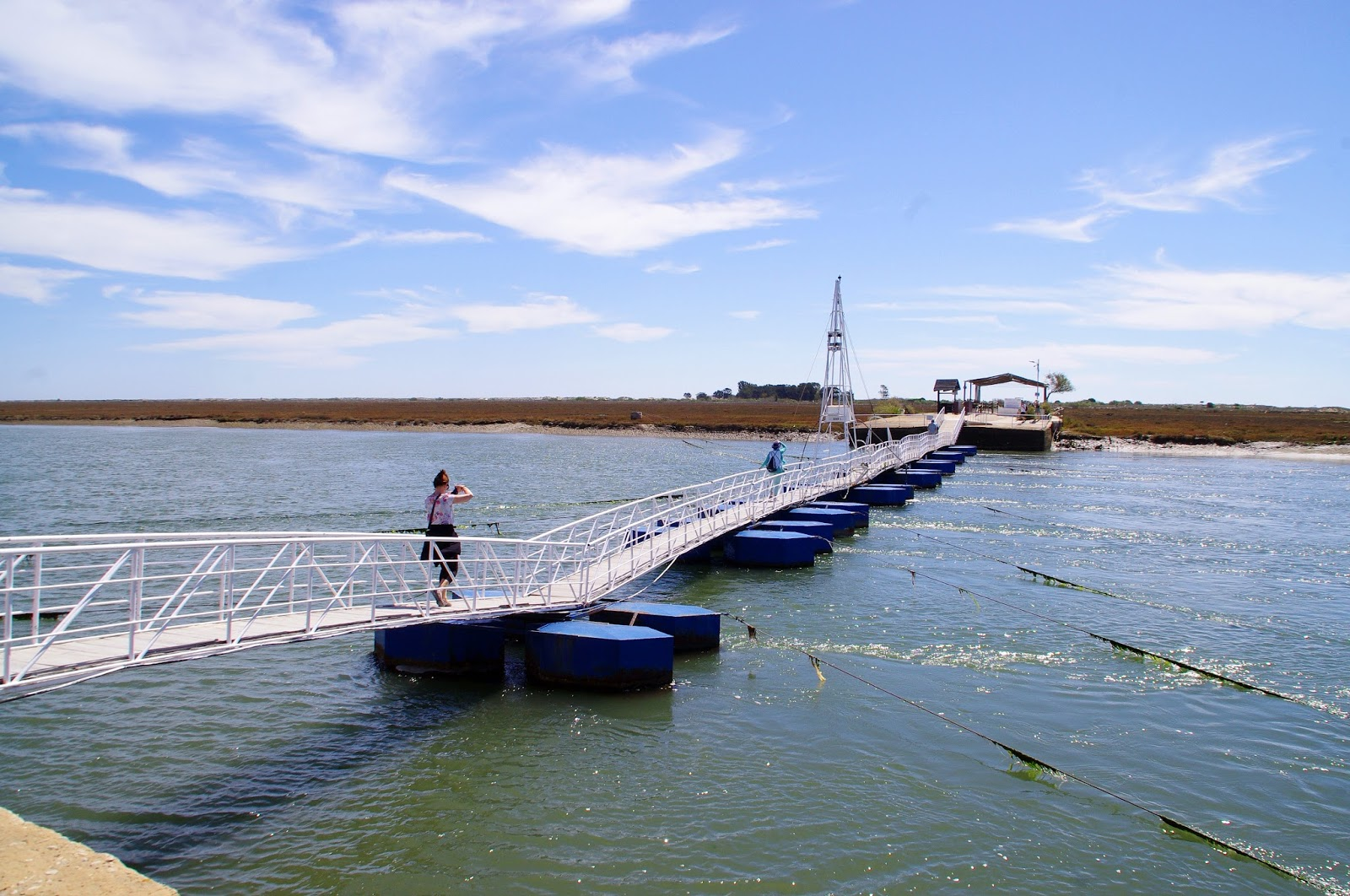 Bridge across Ria Formosa