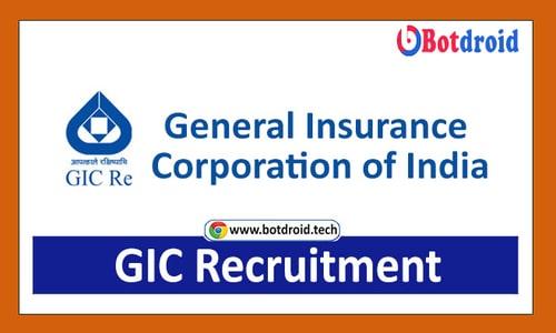 GIC Recruitment 2021 Apply Online for General Insurance Corporation GIC Jobs