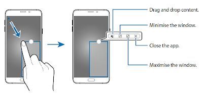 Note 5 Multi Window Pop-up view