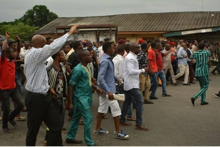 Serious Commotion as Police Shoot Protesters in Rivers During Peaceful Procession (Photos)
