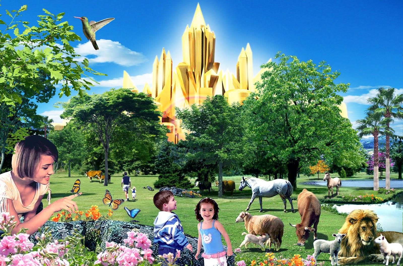 Ilustração do reino milenar de Cristo na Terra