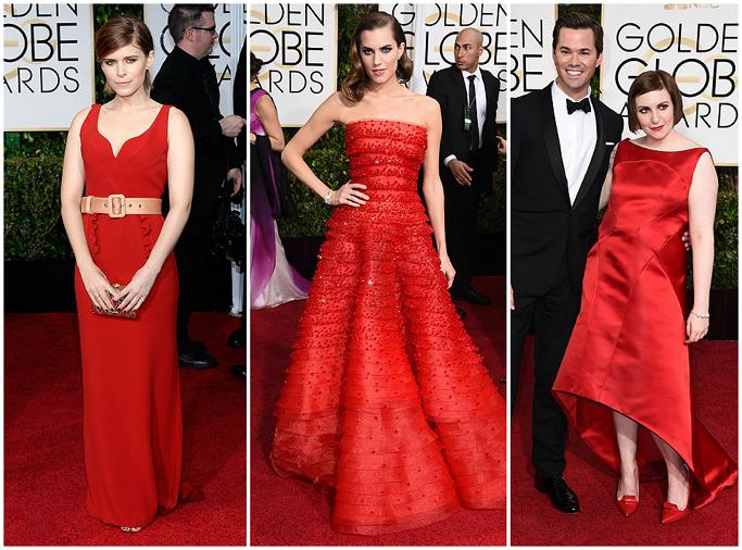 Kate Mara at Golden Globes Red Carpet Allison Williams at Golden Globes Red Carpet Lena Dunham at Golden Globes Red Carpet