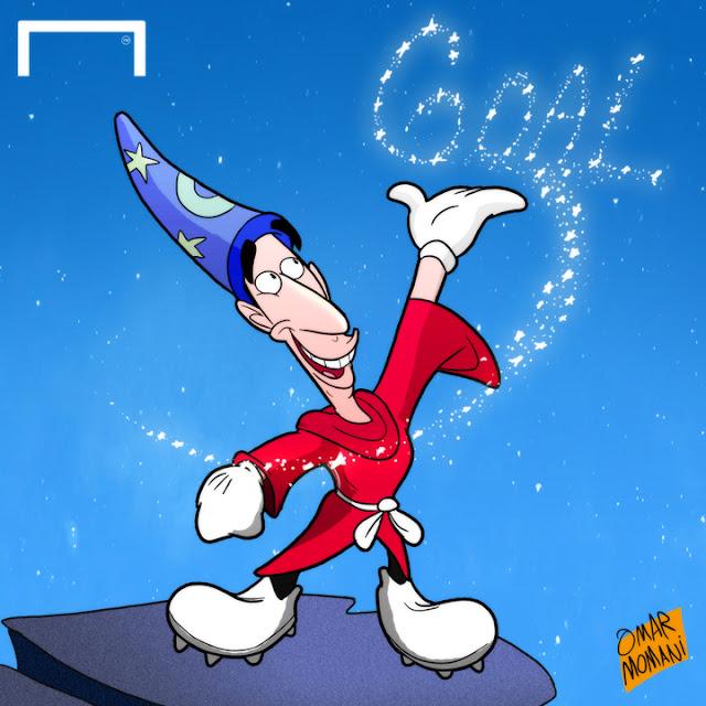 Henrikh 'Mickey' Mkhitarya cartoon