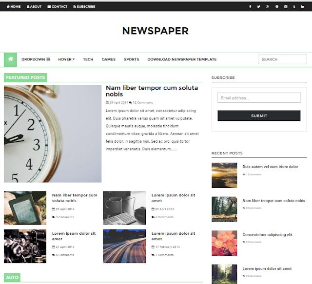Newspaper Magazine Blogger Template