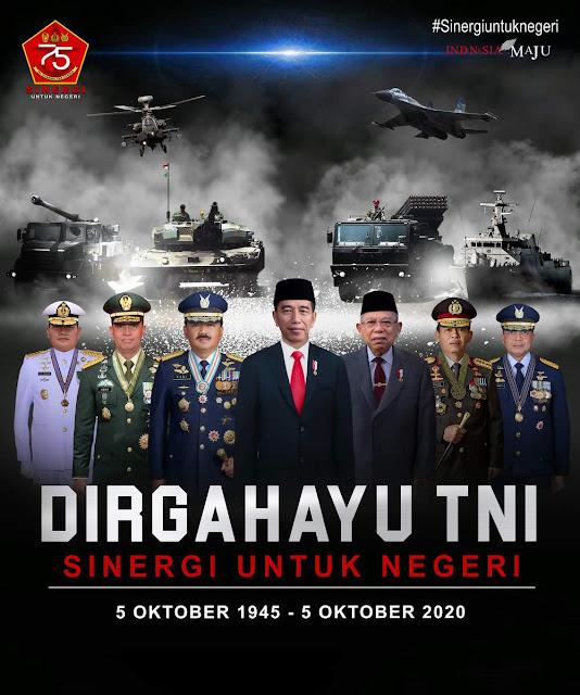 Tema Slogan Logo HUT Tentara Nasional Indonesia (TNI) ke-75 Tahun 2020 Terbaru