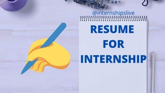 resume for internship