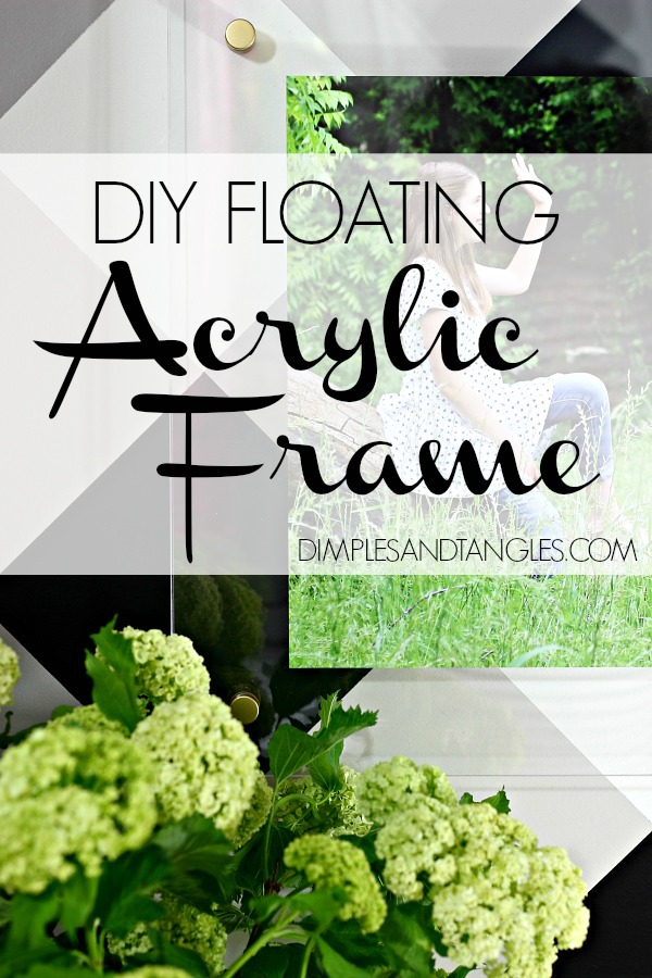 DIY FLOATING ACRYLIC FRAME TUTORIAL - Dimples and Tangles