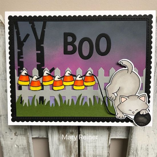 Boo by Mary features Candy Corn, Fence, Newton Unwinds, Land Borders, Forest Scene Builder, and Frames & Flags by Newton's Nook Designs; #newtonsnook