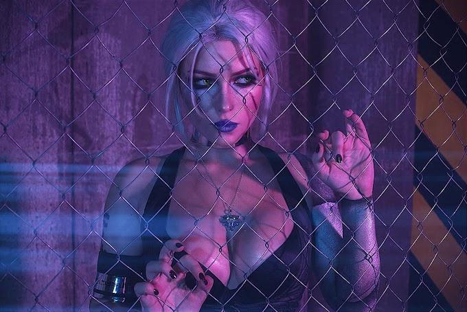 Crossover de Witcher 3 + Cyberpunk 2077 por la cosplayer Irina Meier