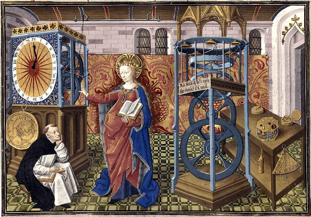 Horloge de la Sapience, Henri Suso, Bibliothèque royale de Belgique, ms IV 111, f 13v.