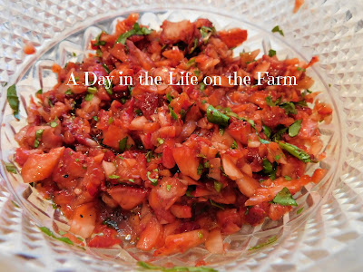 Balsamic Strawberry Basil Salsa