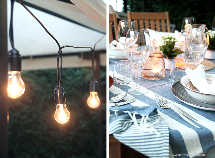 lighting for summer pergola and table inspiration