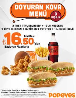 popeyes menu fiyat listesi doyuran kova menü tıkla gelsin online sipariş