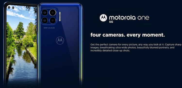 Motorola One 5G Quad Camera
