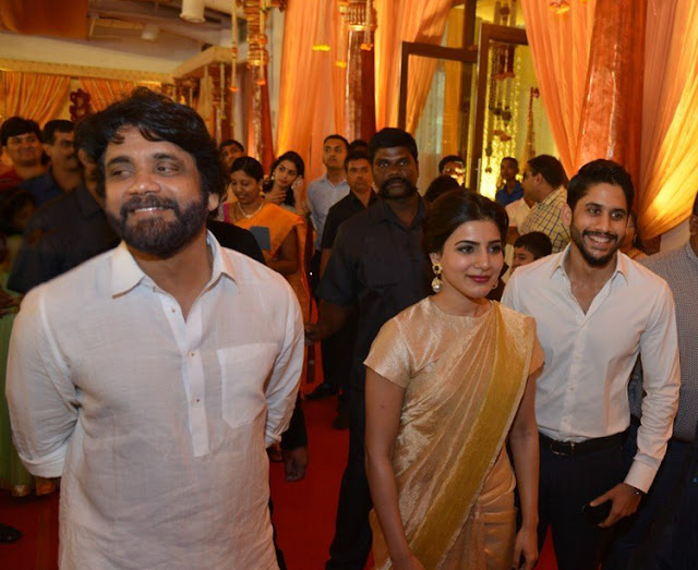 nagarjuna,naga chaitanya,samantha at swathi marrriage