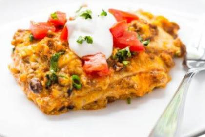 Easy Slow Cooker Hamburger Taco Lasagna Recipe