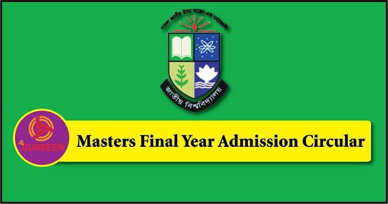 NU Masters Final Year Admission Circular 2020