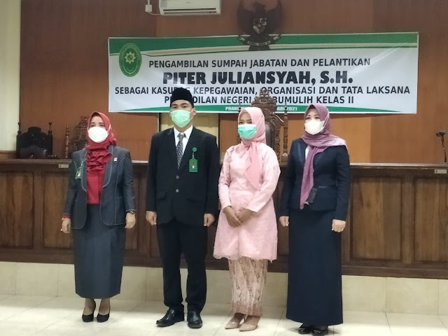 Ketua PN Prabumulih Lantik Kasubag Kepegawaian dan Ortala