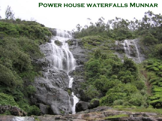 Power house waterfalls Munnar