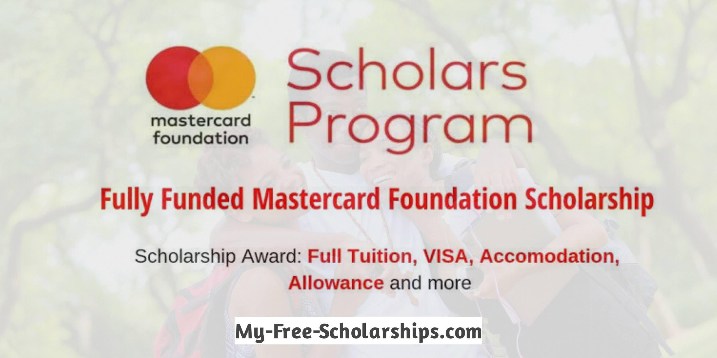 University Of Pretoria MasterCard Scholarship 2022
