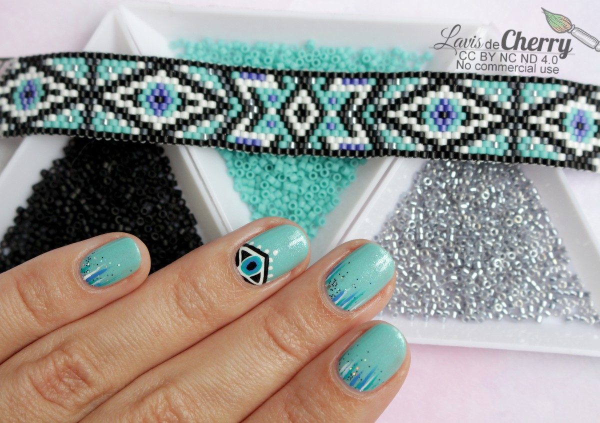 nail-art-bracelet-perles-miyuki-beads-oeil-eye-geometrique-lavisdecherry