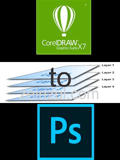 """""""merubah file corel ke photoshop"""""""