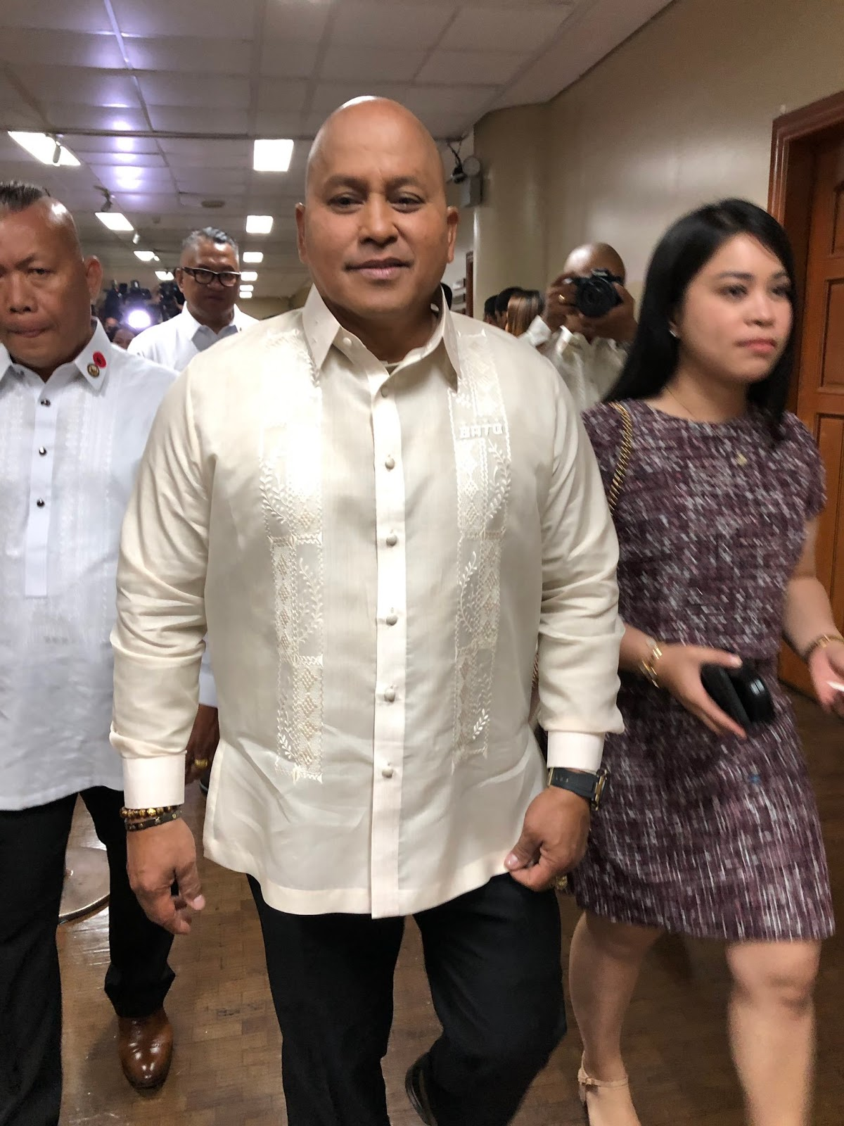 Neophyte senator Bato dela Rosa heads to the opening of 18th Congress