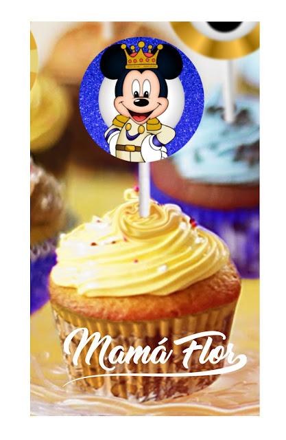 Cupcakes de Mickey Mouse Príncipe