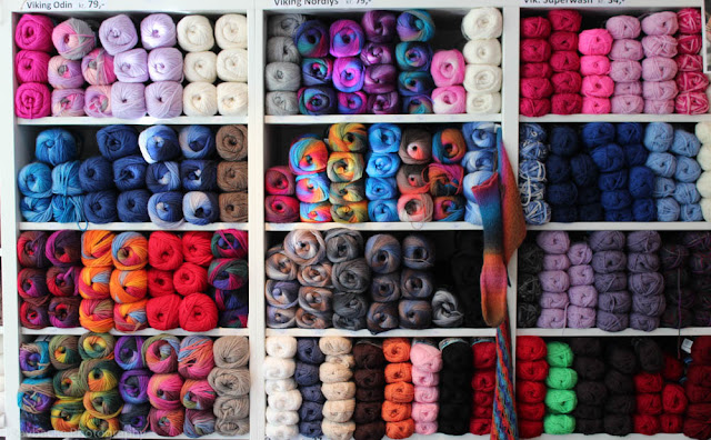 Colourful Viking Yarns at Strikke-Bua