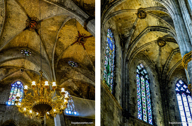 Decoração interna da Basílica de Santa Maria del Mar